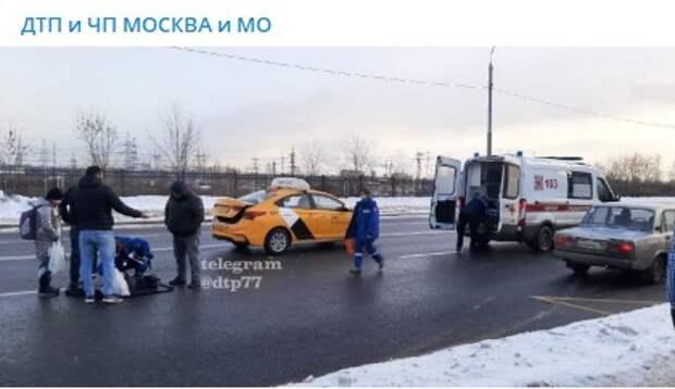В Марьине на пешеходном переходе сбили школьника