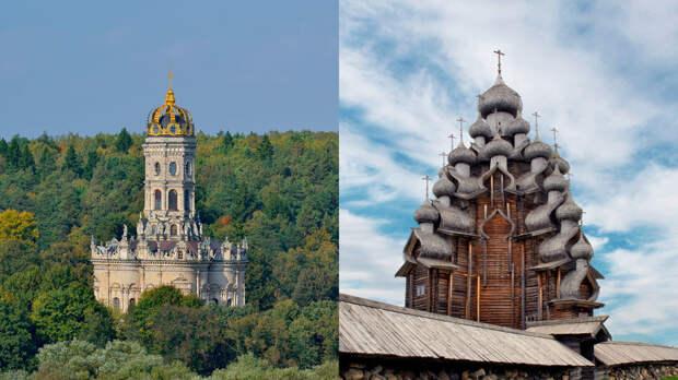 Как выглядели русские церкви в разные века?
