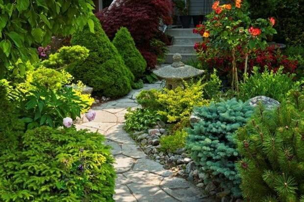 садовая дорожка из плитняка
