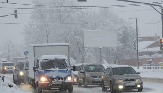 Пробка длиной около 3 км образовалась на проспекте Ленина в Подольске