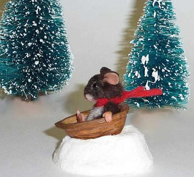 Щёлкаем орешки: скорлупа грецкого ореха как материал для вашего творчества, фото № 31