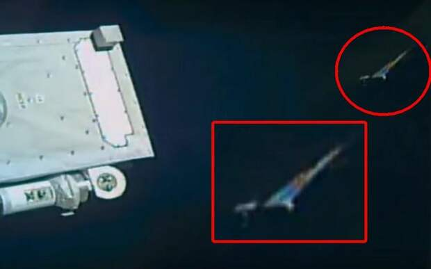 Камера МКС «выхватила» из черноты космоса радужный НЛО
