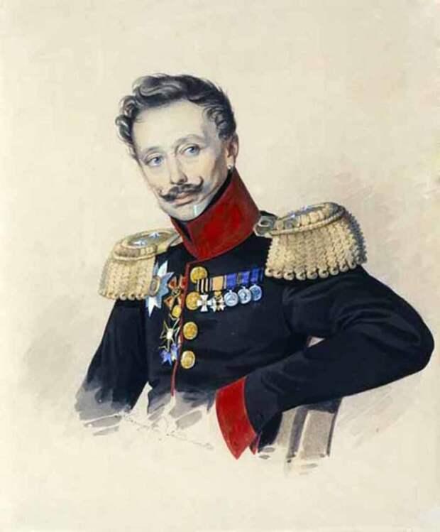 Фёдор Фёдорович Гагарин, портрет кисти Карла Гампельна