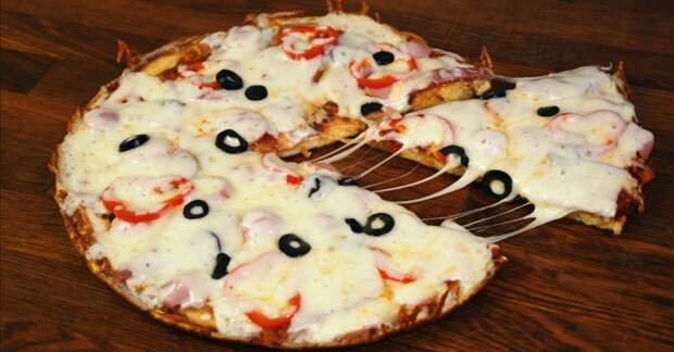 быстрая пицца с колбасой