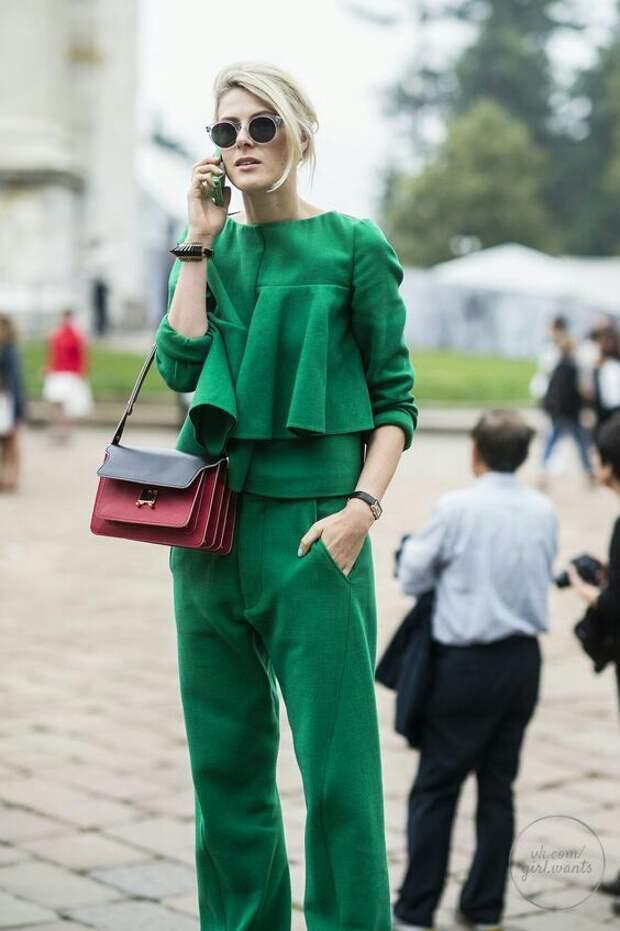 Street Style: Зелёный