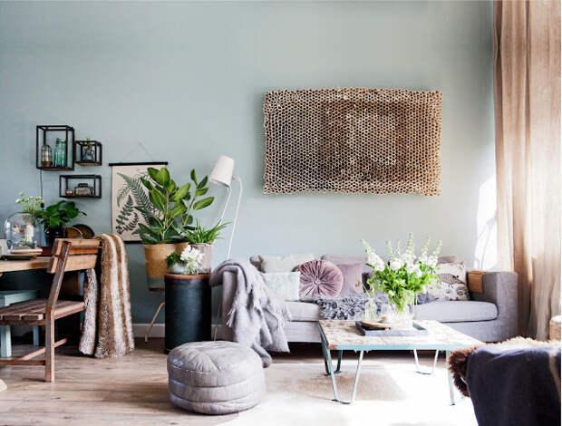 Винтаж и зелень: незабываемый интерьер одного из домов в Голл