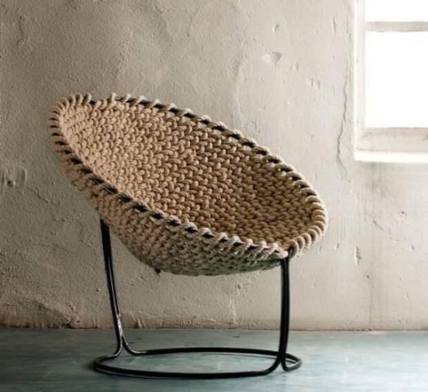 переделка кресла стула вязание