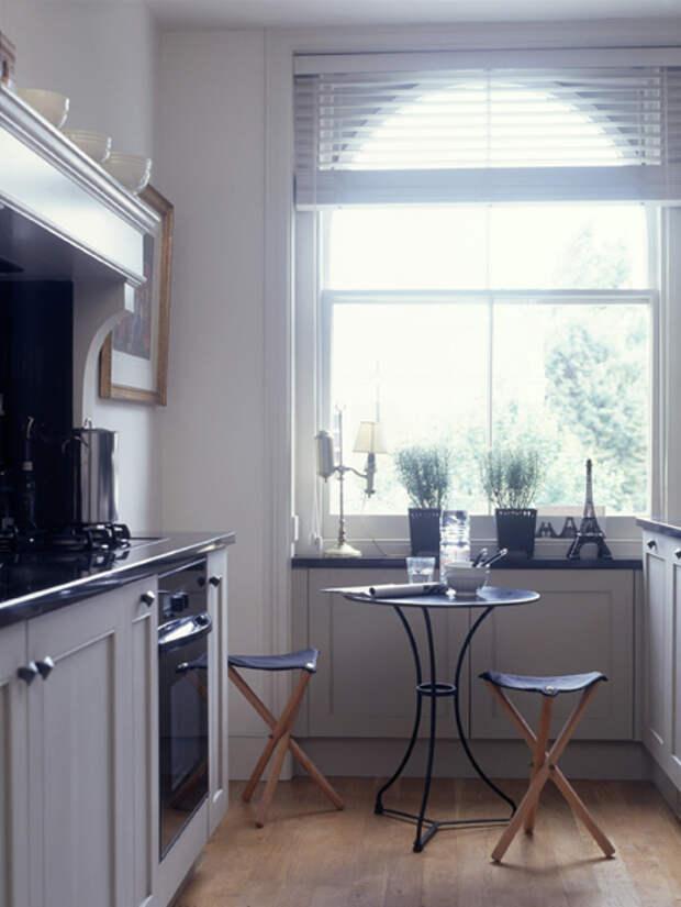 Дизайн маленькой кухни: обеденный стол - 04 - Портал Домашний