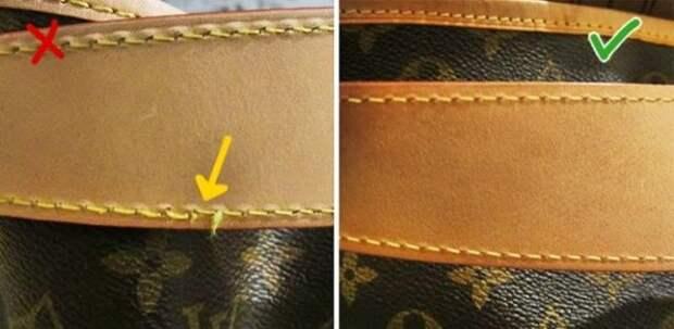 швы на сумке