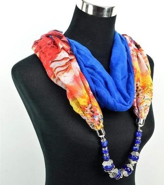 Стильные шарфы своими руками