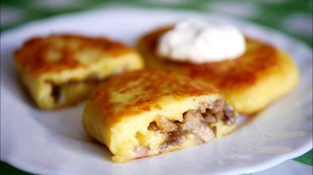 Рецепт: зразы картофельные с грибами