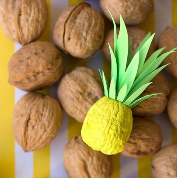 Щёлкаем орешки: скорлупа грецкого ореха как материал для вашего творчества, фото № 37