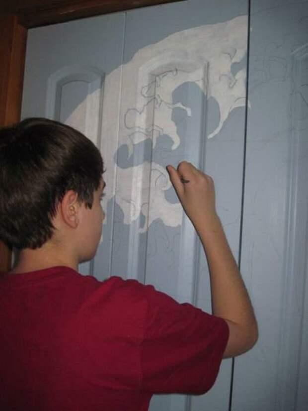 Двери имени Хокусая своими руками