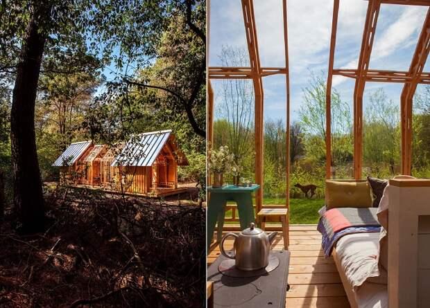 Динамичную модель дома ANNA можно установить в любом понравившемся месте (Cabin ANNA).