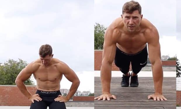 Убираем живот отжиманиями: тренер записал пятиминутный комплекс, за которым можно просто повторять