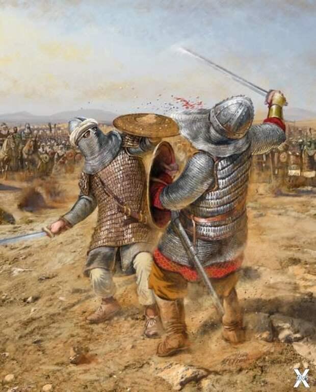 Поединок Халида с персидским богатырем