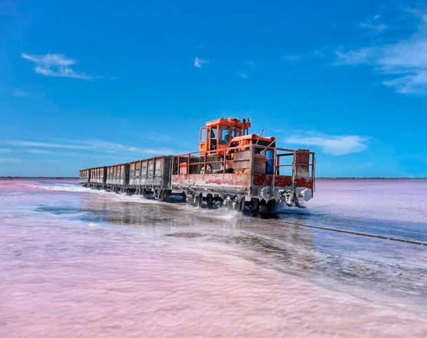 10 фантастических фотографий розового озера в Сибири
