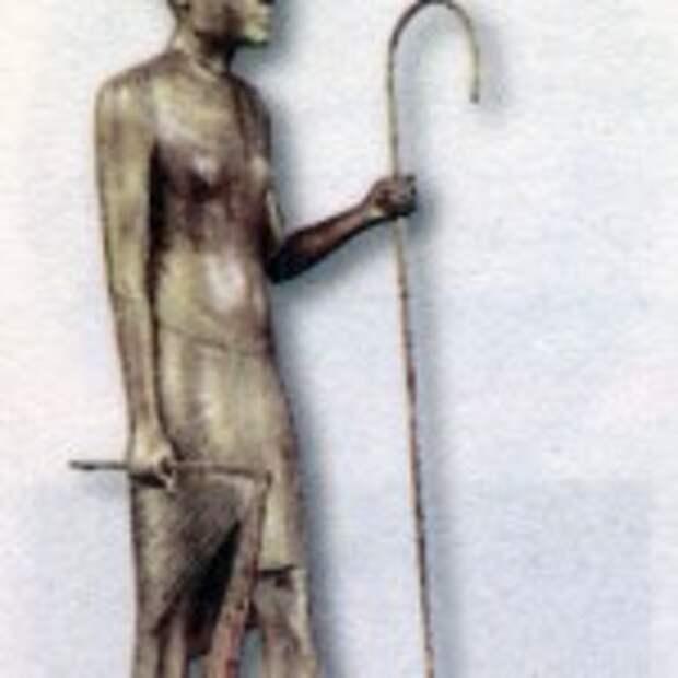 Золотая фигурка Тутанхамона