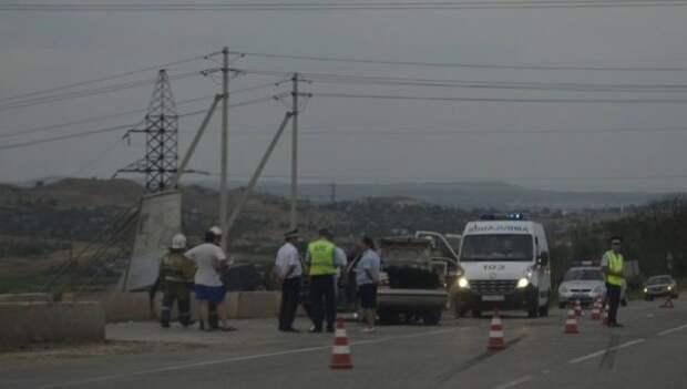 ДТП возле Крымского моста: на трассе произошло лобовое столкновение (ВИДЕО)