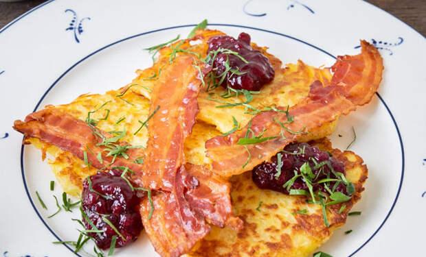 Картофельные блины c беконом: готовим по рецепту северян