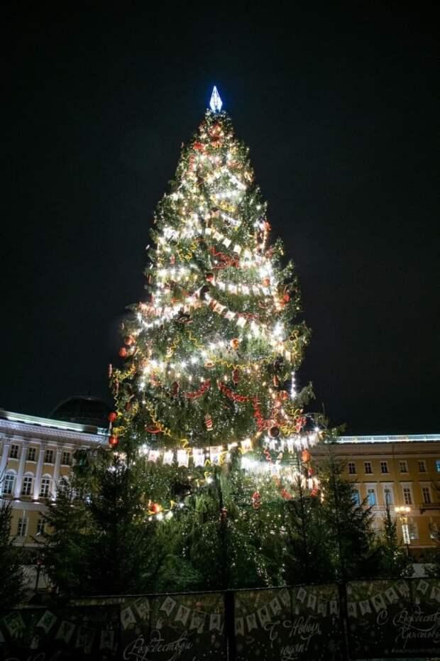 Пустят на сувениры: из главной елки Петербурга сделают часы для соцучреждений