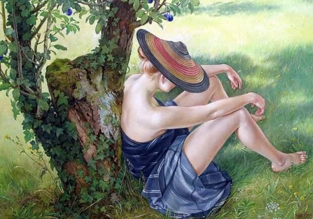 Художник Francine Van Hove. И женщина французская, серьёзна и мила