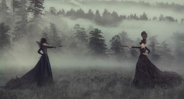 Женские дуэли: за что сражались дамы