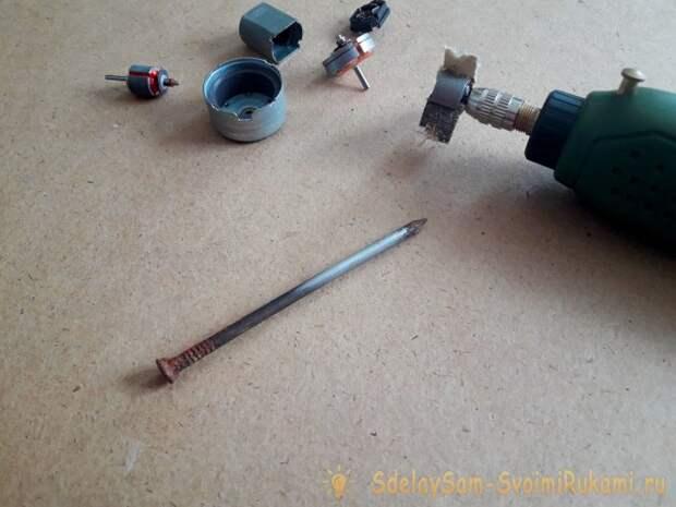 Шлифовальная головка из якоря от двигателя
