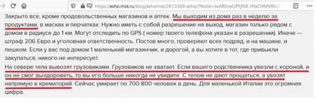 Зачем антироссийские СМИ сочиняют сказки о коронавирусе