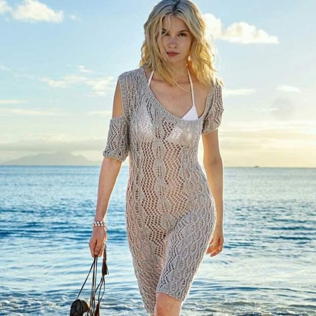 Пляжное вязаное платье (diy)
