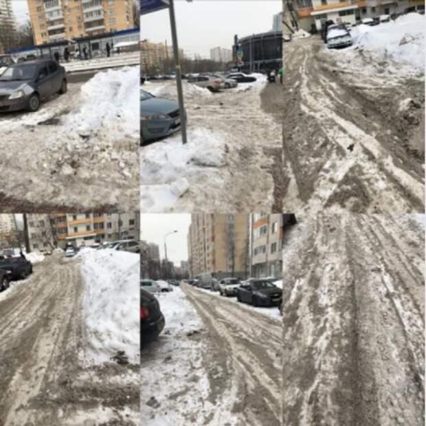 По просьбе жителей на Полярной очистят проезжую часть от снега
