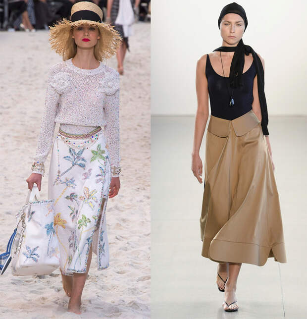Модные длинные юбки 2019