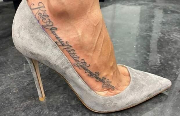 Вдова Коби Брайанта сделала татуировку в его честь