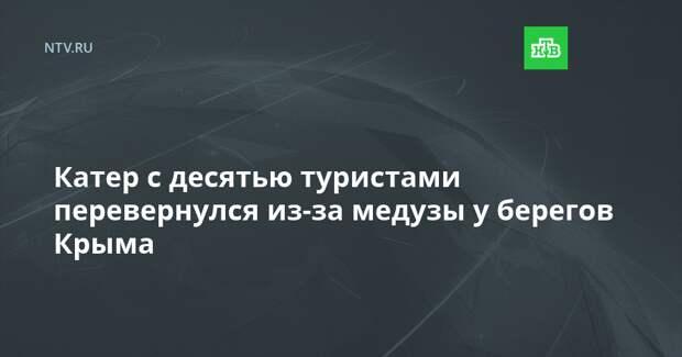 Катер с десятью туристами перевернулся из-за медузы у берегов Крыма