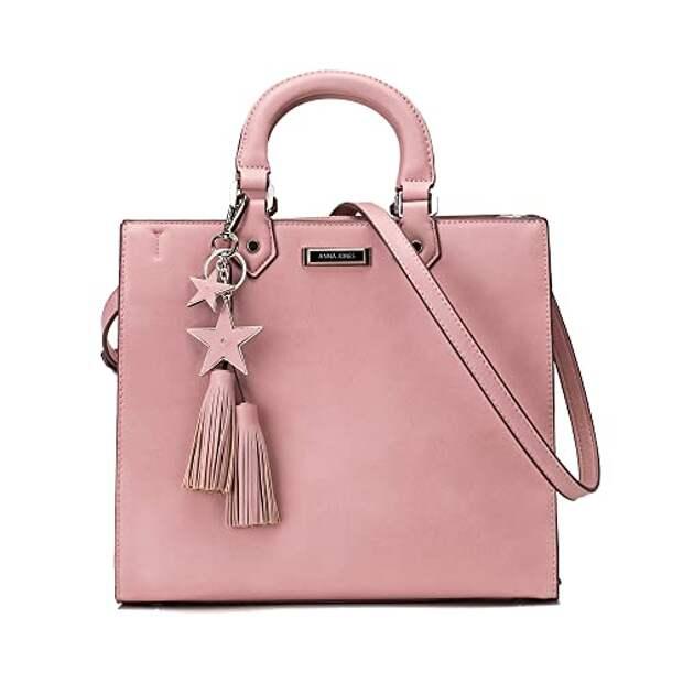 розовая квадратная сумка