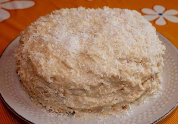 Торт «Рафаэлло» без выпечки -  нереально вкусно!