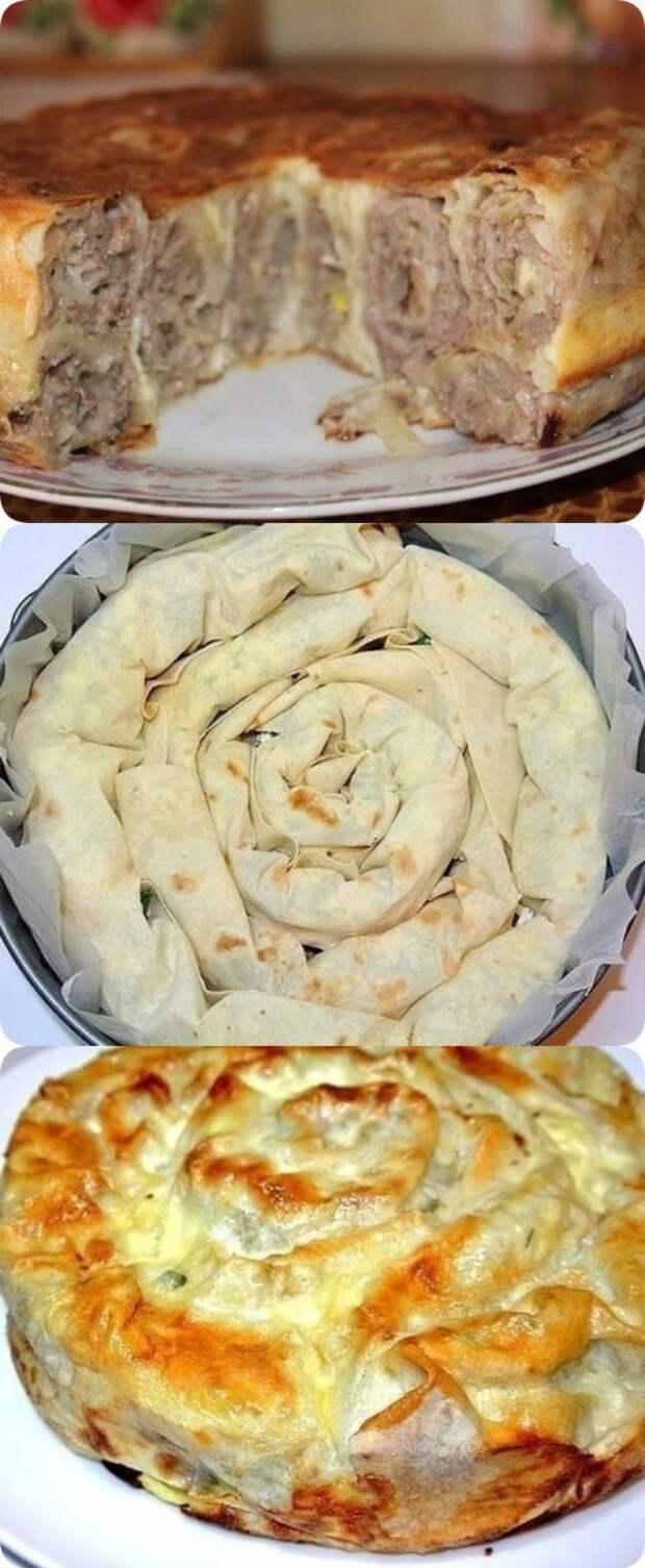 Рулет из лаваша вкусно, еда, красота, многослойное, необычно, пироги. мясо
