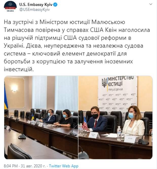 """Временный поверенный в делах США в Украине Квин подчеркнула… или Зачем """"животным"""" Конституция?"""