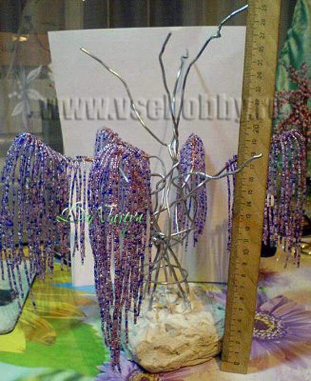 бисерное дерево эйва высота с подставкой