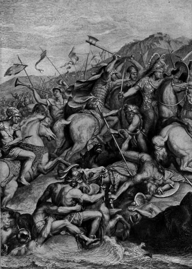 Эпизод битвы при реке Граник.