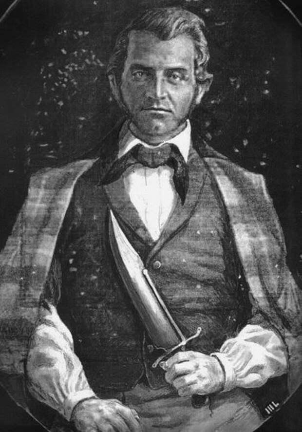 Полковник Боуи со своим знаменитым клинком