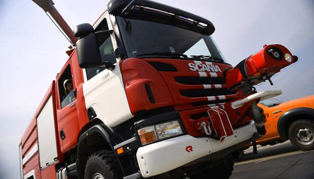 Пожарные ликвидировали возгорание мусора в Подольске на площади 120 кв м