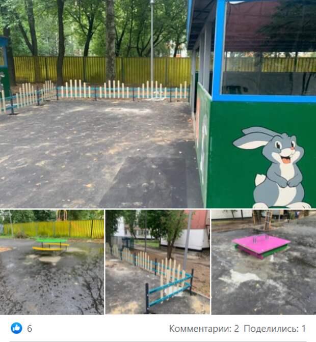 В детском саду на Палехской установили новые веранды