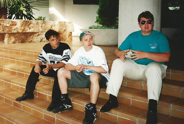 Мальорка, Испания, 1992 год (Юра Шатунов, Дельфин, Алексей Адамов)
