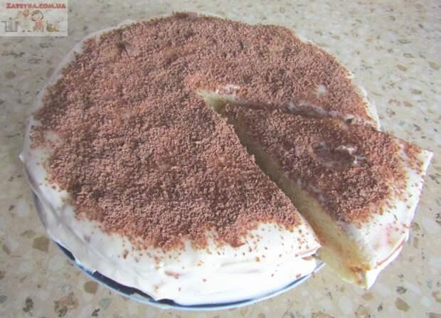 Торт на кефире со сметанным кремом Рецепт, Кулинария, Видео, Торт на кефире, Сметанный крем для торта, Простые торты, Длиннопост