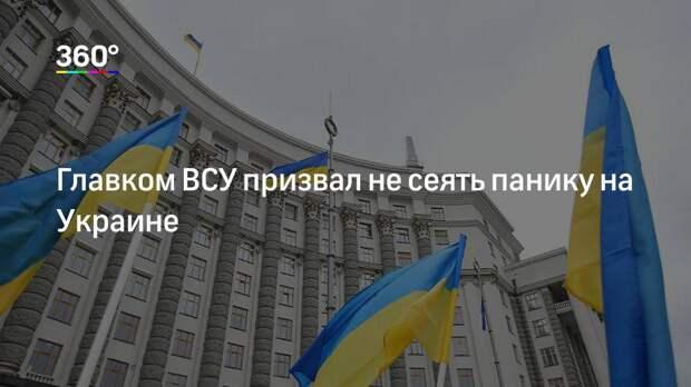 Главком ВСУ призвал не сеять панику на Украине