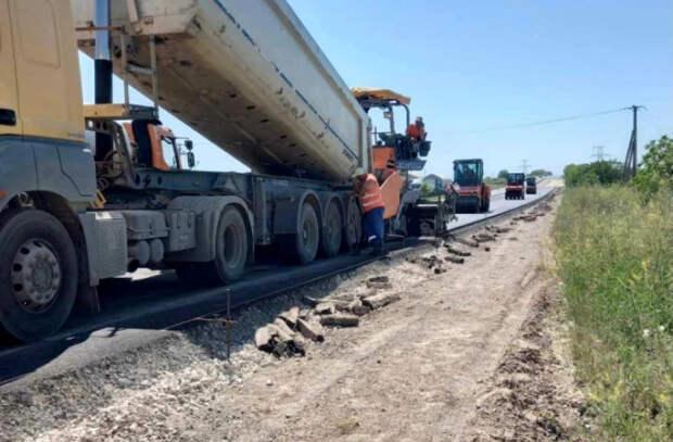 Ремонт участка кольцевой дороги столицы выполнен на 55%