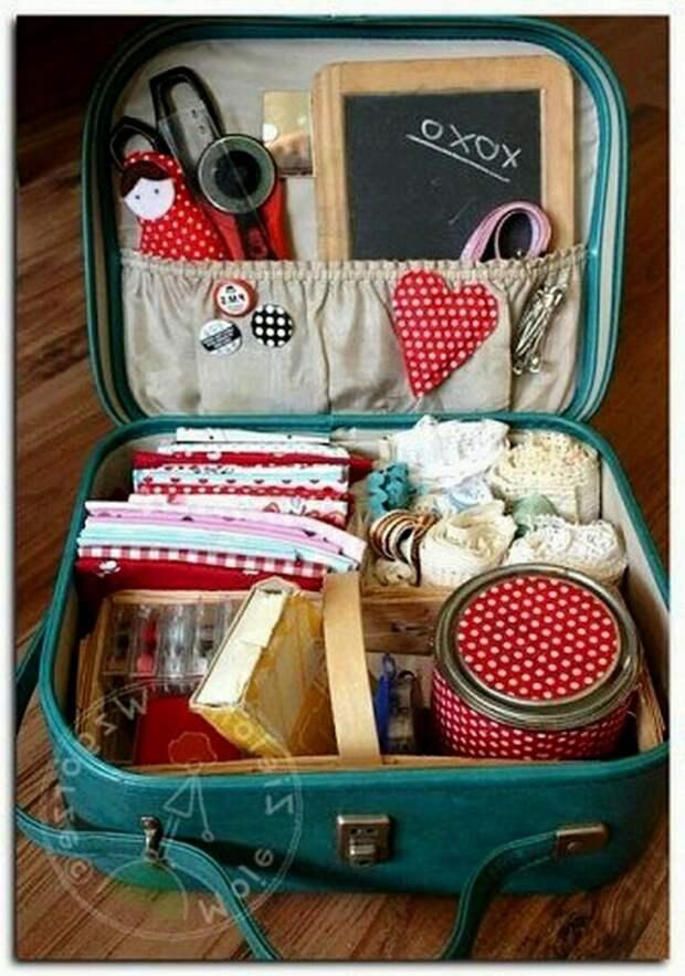 Рукодельные чемоданы 9 шт.