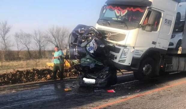 Жуткая авария произошла под Волгоградом— погибли трое