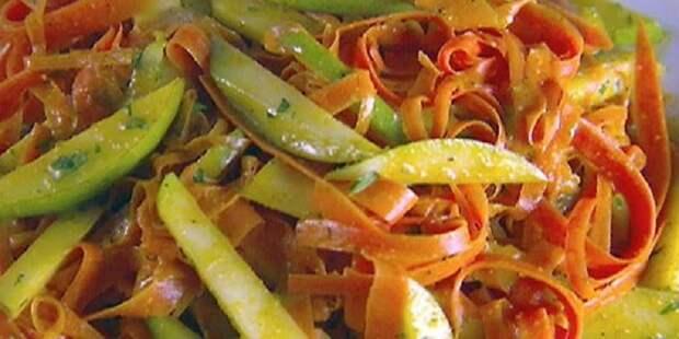 салат из моркови и груши с прямой заправкой